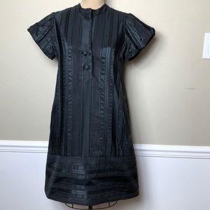 DVF poly/cotton satin brocade dress